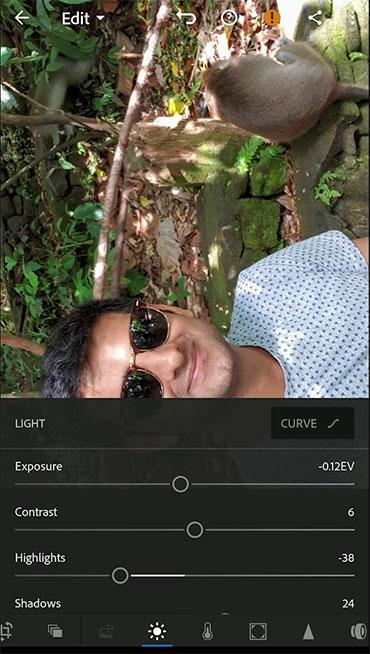 Adobe Lightroom Mobile Interface