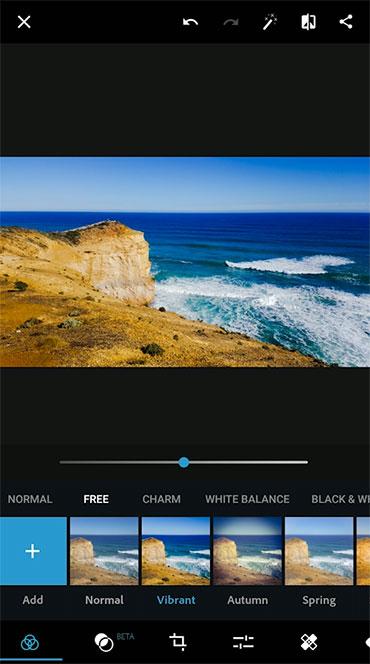 Photoshop Express Interface