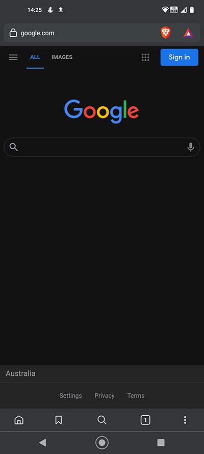 Brave Browser Night Mode